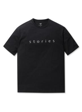 남성 타이포 그래픽 티셔츠 _ (BK)
