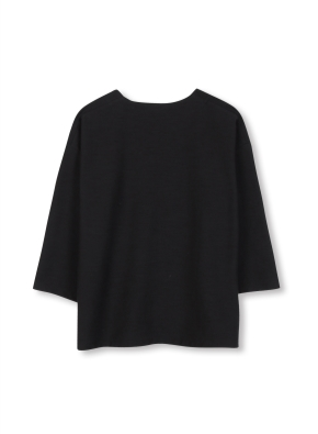 여성 7부 슬릿 티셔츠 _ (BK)