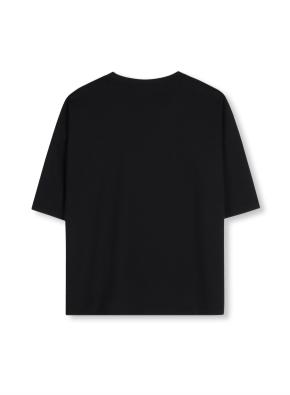 여성 5부 그래픽 티셔츠 _ (BK)