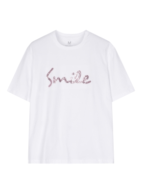 여성 스팽글 그래픽 티셔츠