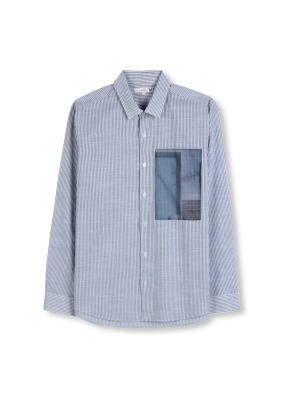 남성 셔츠카라 프린팅 셔츠 _ (SBL)