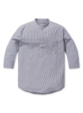 남성 헨리넥 시어서커 7부 셔츠 _ (SWT)