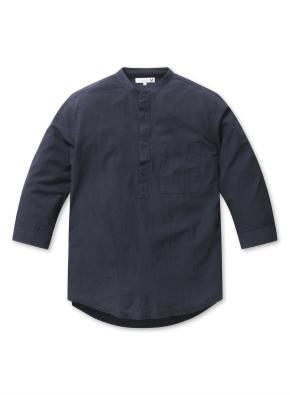 밴드카라 풀오버 7부 셔츠