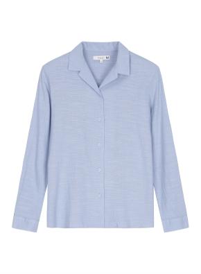 여성 슬럽 솔리드 셔츠 _ (BL)