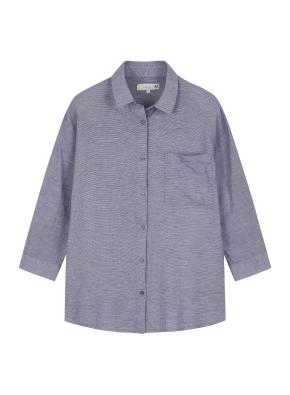 여성 7부 카라 셔츠