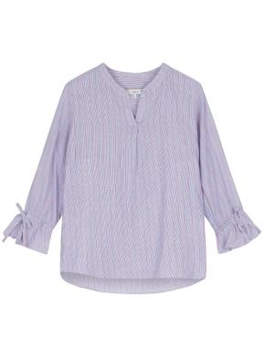 여성 노치넥 7부 셔츠 _ (BL)