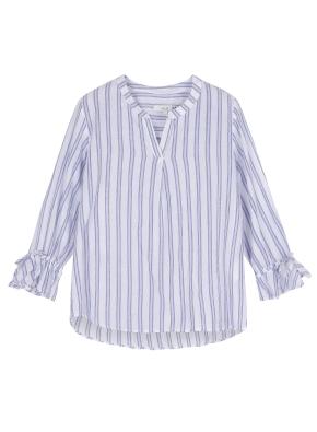 여성 노치넥 7부 셔츠 _ (WT)