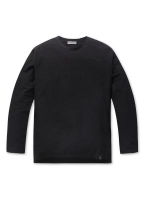 남성 솔리드 싱글 티셔츠 _ (BK)