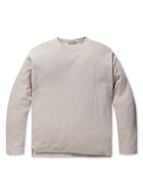 남성 와플 조직 라운드 티셔츠 _ (BE)