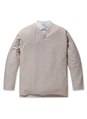 남성 싱글 슬릿 티셔츠 _ (BE)