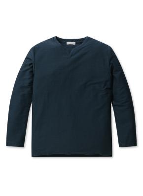 남성 슬럽 테리 슬릿 티셔츠 _ (TGN)