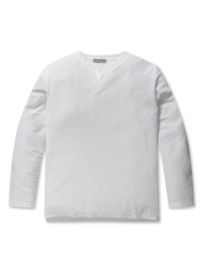 남성 슬럽 테리 슬릿 티셔츠 _ (WT)