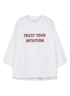 여성 7부 슬릿 티셔츠 _ (WT)