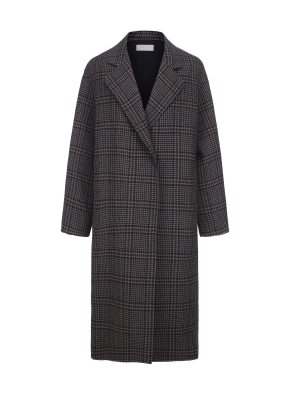 여성 핸드메이드 방모 코트