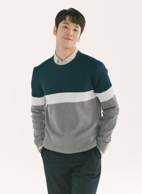 블럭 풀오버 스웨터