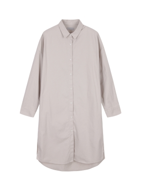 여성 코튼 롱 셔츠 _ (BE)