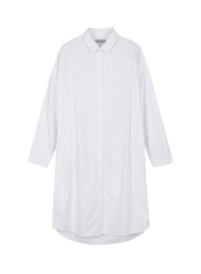 여성 코튼 롱 셔츠 _ (WT)
