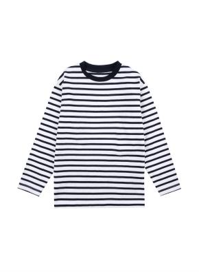 아동) 코튼 스트라이프 티셔츠 (NVP)