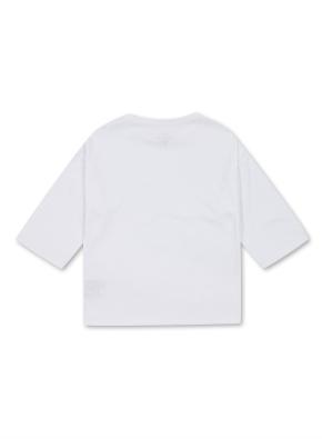 여아) 코튼 엔자임 7부 티셔츠 (WT)