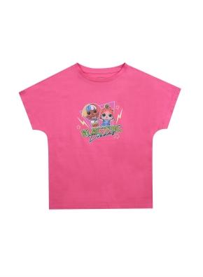 여아) 코튼 콜라보 티셔츠 (LOL SURPRISE) (DPK)