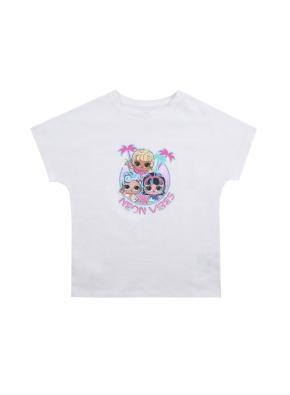 여아) 코튼 콜라보 티셔츠 (LOL SURPRISE) (WT)