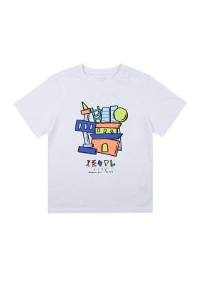 아동) 면 시티 티셔츠 (공모전) (WTF)