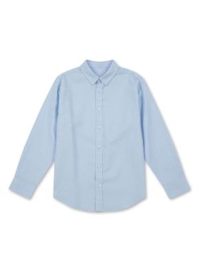 아동) 린넨 코튼 레귤러 카라 셔츠 (9부) (BL)