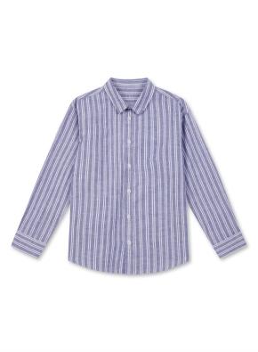 아동) 린넨 코튼 레귤러 카라 셔츠 (9부) (NVB)