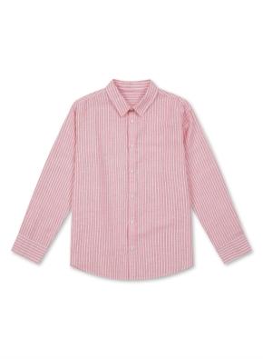 아동) 린넨 코튼 레귤러 카라 셔츠 (9부) (ORP)