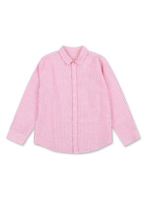 아동) 린넨 코튼 레귤러 카라 셔츠 (9부) (PKP)