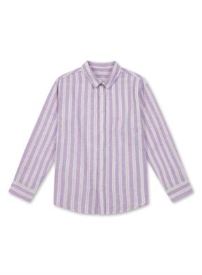 아동) 린넨 코튼 레귤러 카라 셔츠 (9부) (PPA)