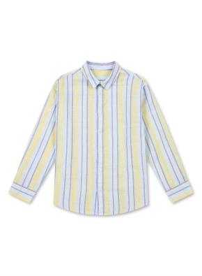 아동) 린넨 코튼 레귤러 카라 셔츠 (9부) (YEA)