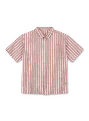 아동) 린넨코튼 레귤러카라 반소매 셔츠 (BLP)