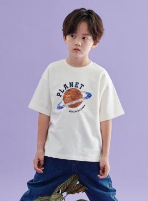 아동) 코튼 미니테리 더블시퀸 티셔츠