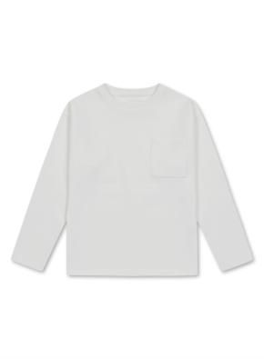 아동) 코튼혼방 더블니트 포켓 티셔츠