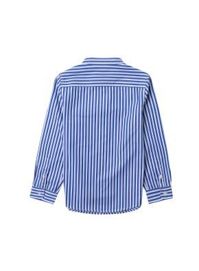 아동) 스탠드카라 포플린 셔츠 (BLP)