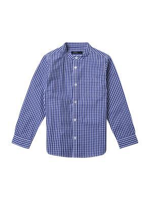아동) 스탠드카라 포플린 셔츠 (NVM)