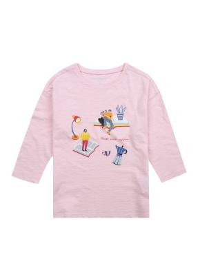 여아) 슬럽 7부 티셔츠 (그래픽)(LPK)