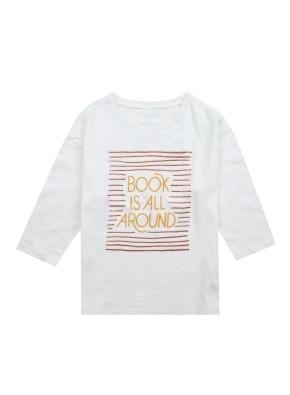 여아) 슬럽 7부 티셔츠 (그래픽)(OWT)