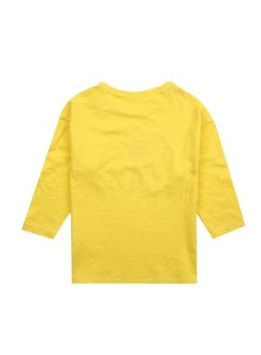 여아) 슬럽 7부 티셔츠 (그래픽)(YE)