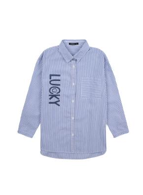 여아) 옥스포드 롱 셔츠(BLP)