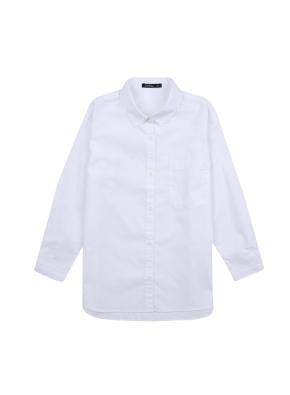여아) 옥스포드 롱 셔츠(WT)