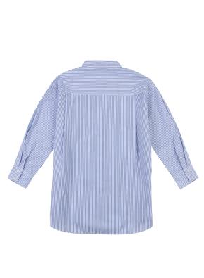 여아) 포플린 롱 셔츠(NVP)