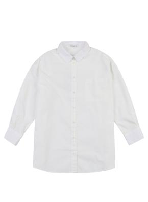여아) 포플린 롱 셔츠(OWT)