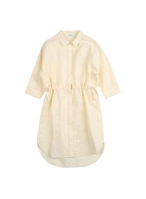 여아) 리넨코튼 7부 셔츠 원피스 (YEP)
