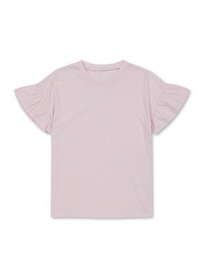 여아) 엔자임 프릴 슬리브 티셔츠 (LPK)