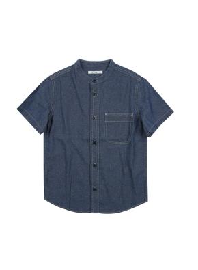 남아) 데님반소매셔츠 (BL)