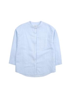 여아) 리넨코튼 밴드카라 셔츠 (BLP)
