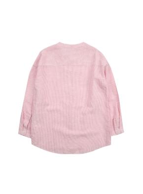 여아) 리넨코튼 밴드카라 셔츠 (RDP)