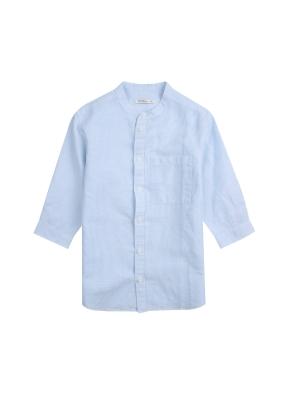 아동) 린넨코튼 7부셔츠 (BLP)